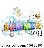 Clipart Summer 2011 Sign Royalty Free Vector Illustration by BNP Design Studio