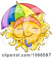Clipart Summer Sun With A Parasol Royalty Free Vector Illustration