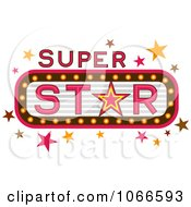 Clipart Super Star Marquee Sign Royalty Free Vector Illustration