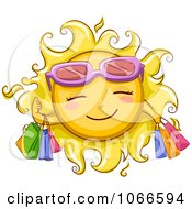 Clipart Summer Sun Shopping Royalty Free Vector Illustration by BNP Design Studio