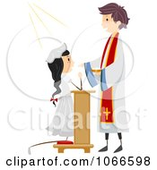Clipart Girl During Her Communion Royalty Free Vector Illustration