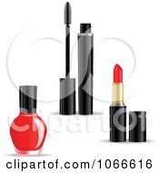 Clipart Nail Polish Mascara And Lipstick Royalty Free Vector Illustration