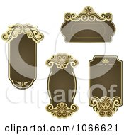 Clipart Brown Victorian Frames Royalty Free Vector Illustration