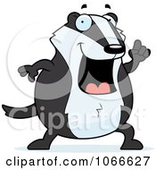 Clipart Pudgy Badger With An Idea Royalty Free Vector Illustration by Cory Thoman