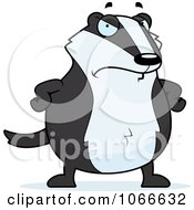 Clipart Mad Pudgy Badger Royalty Free Vector Illustration by Cory Thoman