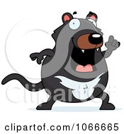 Clipart Pudgy Tazmanian Devil With An Idea Royalty Free Vector Illustration by Cory Thoman