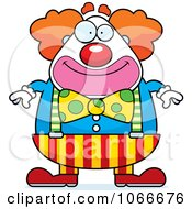Clipart Pudgy Circus Clown Royalty Free Vector Illustration by Cory Thoman