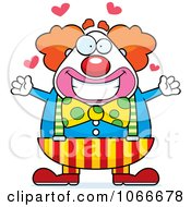 Pudgy Circus Clown With Open Arms by Cory Thoman