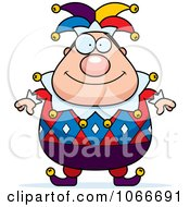 Clipart Pudgy Jester Royalty Free Vector Illustration