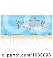 Clipart Shark In The Sea Royalty Free Vector Illustration by Cory Thoman