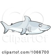 Clipart Shark In Profile Royalty Free Vector Illustration by Cory Thoman