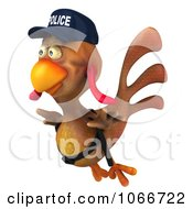 Clipart 3d Police Chicken Flying 4 Royalty Free CGI Illustration