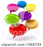 Clipart 3d Colorful Social Networking Chat Balloons Royalty Free CGI Illustration by Julos