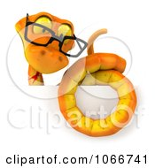 Clipart 3d Orange Snake Sign Royalty Free CGI Illustration by Julos