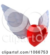 Clipart 3d Winged Heart 2 Royalty Free CGI Illustration by Julos