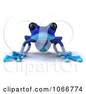 3d Blue Springer Frog