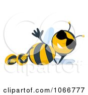 Clipart Cartoon Bee Wearing Shades And Reclining Royalty Free Illustration