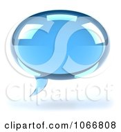Clipart 3d Blue Chat Balloon Royalty Free CGI Illustration by Julos