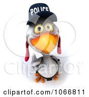 Clipart 3d Thumbs Up White Police Chicken Royalty Free CGI Illustration