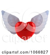 Clipart 3d Winged Heart 1 Royalty Free CGI Illustration
