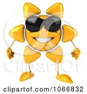 Clipart 3d Sun Guy Wearing Shades Royalty Free CGI Illustration