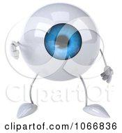 Clipart 3d Blue Eyeball Pointing Outwards Royalty Free CGI Illustration