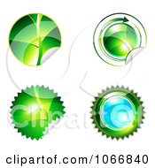 Clipart Ecology Sticker Icons Royalty Free Vector Illustration