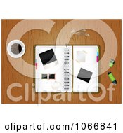 Clipart Messy Desk Top Royalty Free Vector Illustration by MilsiArt