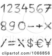 Black Scribble Arithmetic Symbols