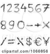 Clipart Black Scribble Arithmetic Symbols Royalty Free Vector Illustration