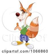 Clipart Talking Fox Presenting Royalty Free Vector Illustration by yayayoyo