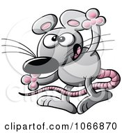 Clipart Exaggerating Mouse Royalty Free Vector Illustration