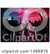 People At A Disco Dance Royalty Free Vector Illustration