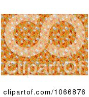Clipart Background Of Erasers Colored Pencils Rulers And Art Items Royalty Free Illustration by dero