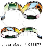 Clipart Two Film Strip Borders Royalty Free Vector Illustration by dero