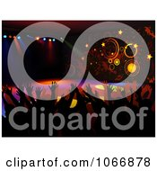 Clipart Silhouetted People On A Dance Floor Royalty Free Vector Illustration