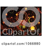 Clipart Grungy Star And Circle Background Royalty Free Vector Illustration