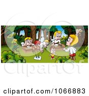 Clipart Bugs In School Royalty Free Illustration