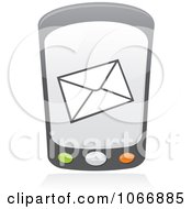 Clipart Cell Phone With A Message Royalty Free Vector Illustration