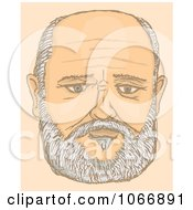 Clipart Portrait Of A Balding Man Royalty Free Vector Illustration by Any Vector
