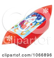 Clipart Red Foldable Santa Gift Box Royalty Free Illustration