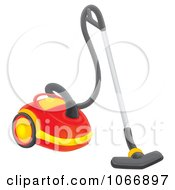 Clipart Red Canister Vacuum Royalty Free Illustration by Alex Bannykh