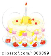 Clipart Turtle Birthday Cake Royalty Free Illustration
