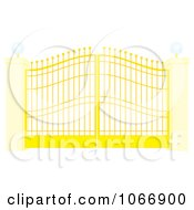 Clipart Gate And Posts Royalty Free Illustration