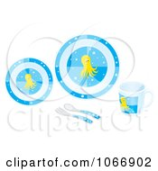 Clipart Octopus Dishes Royalty Free Illustration