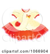 Clipart Cute Butterfly Girl Dress Royalty Free Illustration