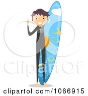 Stick Boy With A Surf Board