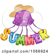 Clipart Summer Jellyfish Royalty Free Vector Illustration by BNP Design Studio
