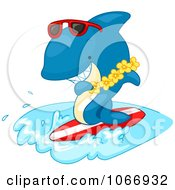 Clipart Surfer Shark Royalty Free Vector Illustration