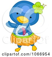 Clipart Penguin Hula Dancing Royalty Free Vector Illustration